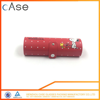 New high grade red spectacles cases manufactur for kids with SNOOPY