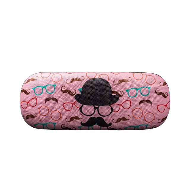 hand operated cute folding reading glasses with metal case