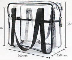 Transparent PVC handbag travel large capacity men and women portable toilet bag multifunctional cosmetic bag