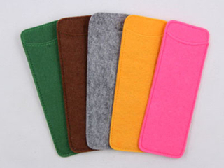 F162 reading glasses pouch with Two pieses of felts