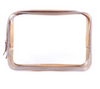 Transparent PVC cosmetic bag waterproof travel large capacity wash bag jelly PVC bag