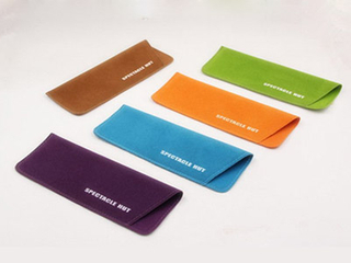 F177 double-sided velvet colorful soft glasses pouch with logo