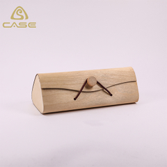 2019 new disign handmade glasses case with natural color of wood Q108