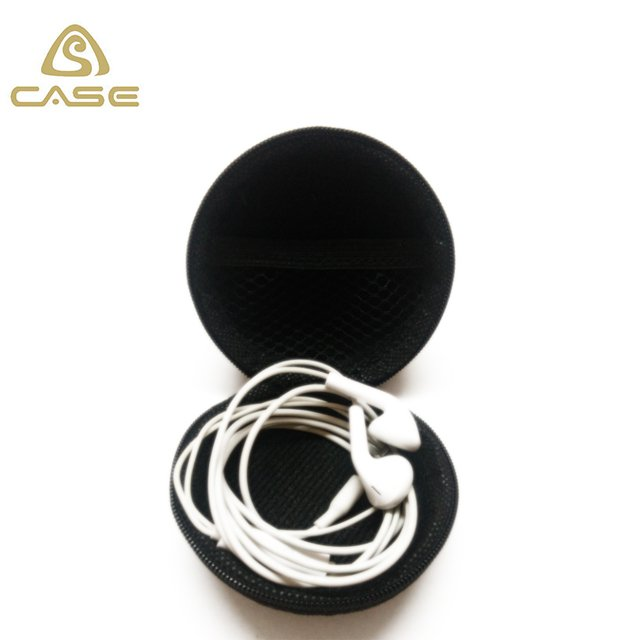 EVA case round headphones case
