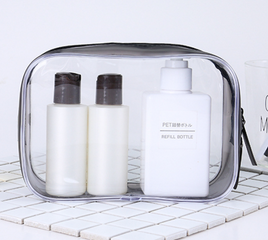 Transparent PVC cosmetic bag spot waterproof travel wash bag sewing zipper PVC bag stereo portable cosmetic bag