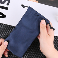 Eco-friendly simple satin cloth bundle pocket outdoor travel finishing drawstring bag portable wild glasses storage bag