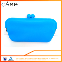 WZ 2017 soft ladies silicone eyeglasses bag with zipper Q89