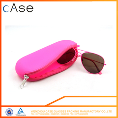 LB56 WenZhou soft silicone eyeglasses bag with zipper
