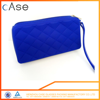 customzied silicone zipper sunglasses bags