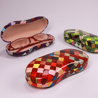 2021 Glasses Case Three Types of Sunglasses Case Printed with A Square Line
