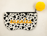 2021 Sunglasses, LOGO Printed, Zip Style, Pompon Embellished Glasses Soft Bag