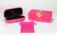2021 sunglasses, pink, logoprinted 3 piece box, including glasses tin case, paper box and pocket