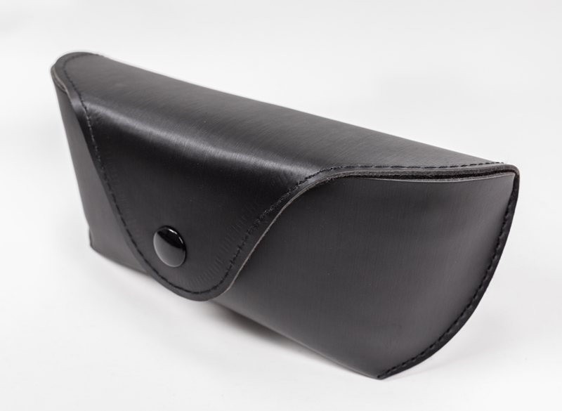 The Glasses Case Comes in Two Colors And Looks Like A Leather Bag