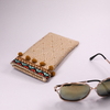 2021 Sunglasses 6 Styles, Printed Pattern, with Fiber Knit Glasses Pocket, Pocket