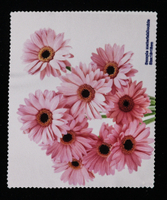 Eyewear Cloth Printed with Pink Sunflower Pattern in 2021