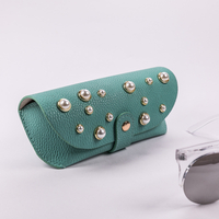 2021 Sunglasses, 3 Colors, Inlaid with Pearl Decoration, Button-style Glasses Bag, Appearance Like A Leather Bag, Exquisite And Beautiful Design Novel