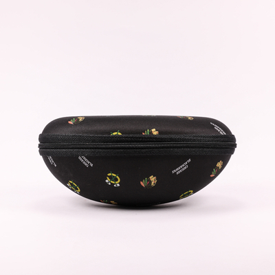 2021 Glasses Case A Black Eyeglass Case with A Miniature Print That Looks Like A Fanny Pack
