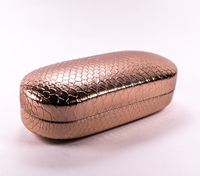 2021 Eyeglasses Case A Brown Eyeglasses Case with Irregular Scales Printed on It