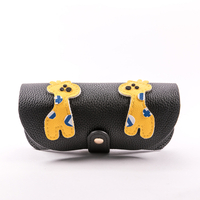2021 Sunglasses, Giraffe Print, 5 Colors, Button-down Glasses Bag, Look Like A Leather Bag