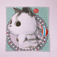 2021 Wipe Cloth, Printed with A Small White Cat Pattern of Eyeglass Cloth, Lovely, Charming