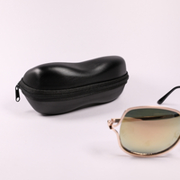 2021 GlASSES CASE A Black, Zip-end Glasses Case, Shaped Like A Peanut.