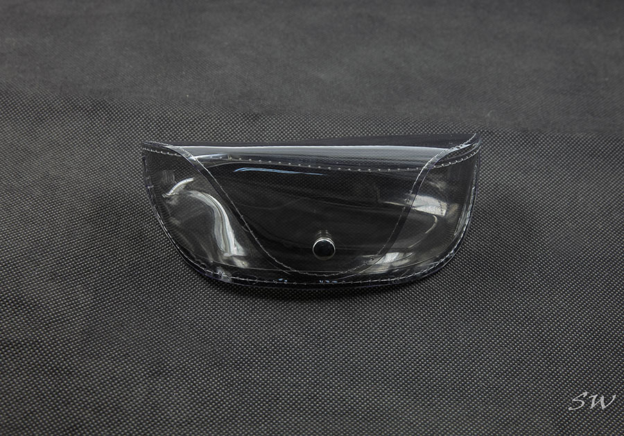2021 Color Film Case, Black, Translucent, Button-like Glasses Film Case, The Appearance Is Like A Fanny Pack