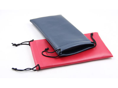Leather bag for print/Sunglass case with leather D40