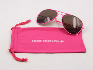 pink soft microfiber glasses pouch D112