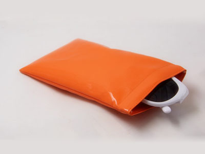 Candy color PU sunglasses bag with leaf spring D129