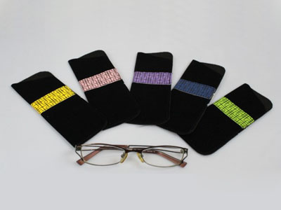 bright color print reading glasses pouch F72