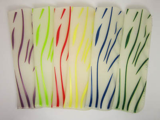 Printed stripes soft PVC eyeglasses pouch F81